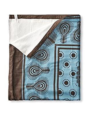 Nomadic Thread Society Swahili Towel, Blue/Brown