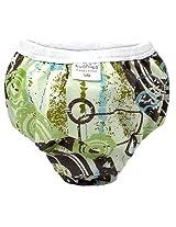 Taffeta Waterproof Training Pant Distressed | Circles Green Size , Small