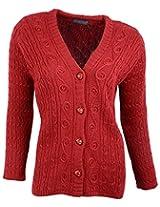 Casanova Women's Long Sleeve Cardigans (7307, Tomato, L)