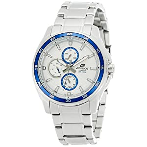 Casio Edifice Analog Silver Dial Men's Watch - EF-334D-7AVDF (ED422)