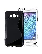 Samsung Galaxy On5 Case, Ziaon S-Line TPU Soft Gel Back Cover Case For Samsung Galaxy On5 -Black
