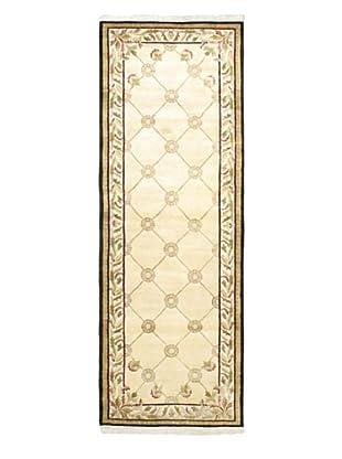 Hand-Knotted Karma Wool Rug, Cream, 4' 1