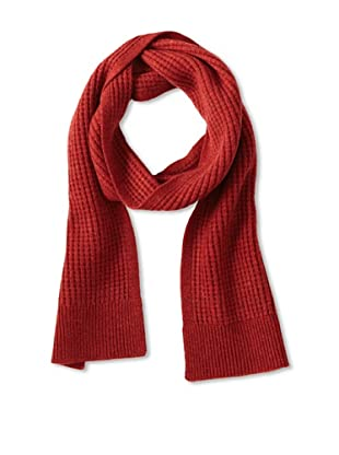 Sofia Cashmere Men's Thermal Stitch Scarf (Red)