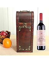 Retro Lock Wood Wine Box Storage Box With Handle Gift