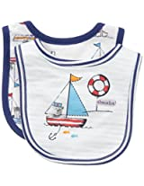 ABSORBA Baby-Boys Newborn Little Sailor 2 Pack Bib Set