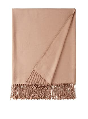 Nine Space Viscose from Bamboo Solid Throw Blanket (Taupe)