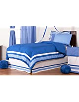 One Grace Place Simplicity Twin Bedding Set, Blue, 6 Piece