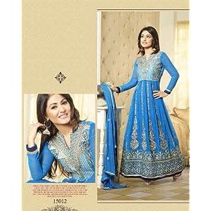 Designer Ankle Length Light Blue Akshara Anarkali Suit