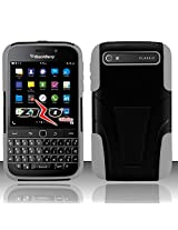 Tactical Dual Armor Hybrid Stand Phone Cases Protector Cover BLACKBERRY CLASSIC + FREE PRIMO DESIGN CARTOON FOLDABLE TOTE BAG (GRAY)