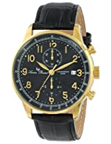 Lucien Piccard Men's LP-10503-YG-01-BK Montilla Analog Display Japanese Quartz Black Watch