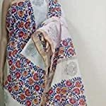 Block print Linen Saree With blouse piece