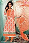 Freshen Orange Pakistani Style Suit