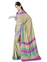 Shri Vaishnavi Designer raw silk printed Saree (5442)