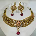 Antique gold polki set