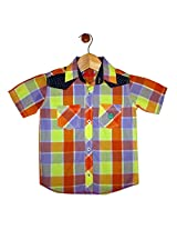 Globe Boys Checked Cotton Shirt Half Sleeve