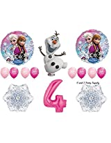 Frozen Pink 4th Disney Movie BIRTHDAY PARTY Balloons Decorations Supplies