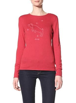 Acrobat Women's Aries Long Sleeve Crew Sweater (Red/Flamingo)