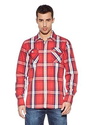 Cross Jeans Camisa Estamapda (Rojo / Blanco)