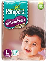 Pampers Active Baby Diaper Large 18 Pieces (9 to 14 kg)