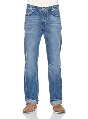 Fuga Pantalón Cortez Straight (Azul Medio)