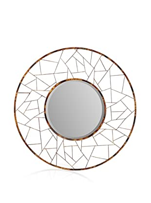 Firefly Home Collection Metal Round Mirror