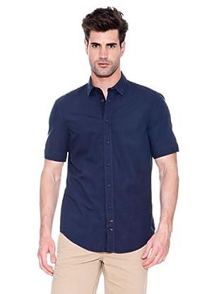 Hugo Boss Camisa Cliff (Azul Oscuro)
