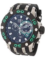 Invicta Men's 0904 Subaqua Reserve Chronograph Black Dial Black Polyurethane Watch