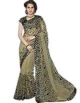 Sapphire Fashions Women's Green Net Saree