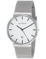 Skagen Analog White Dial Men's Watch - SKW6052I
