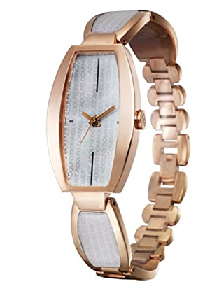Adolfo Dominguez Watches 69153 - Reloj de Señora cuarzo brazalete metálico caja cobre dial Blanco Nacarado