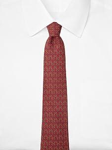 Hermès Men's Chains Tie, Burgundy/Yellow, One Size