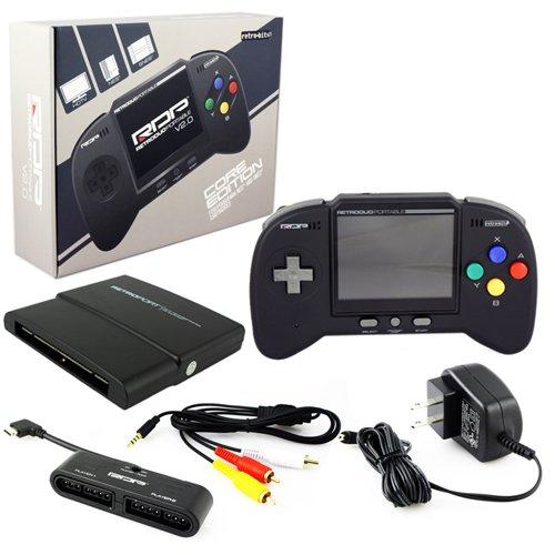 RetroDuo Portable Ver2.0 スーパーファミコン互換機 新バージョン登場! SNES & NES & GENESIS Gaming Handheld System  - Black
