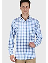 Checks Blue Casual Shirt Kingswood