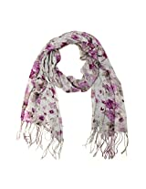 Wrapables Viscose Floral Print Scarf, Orchid