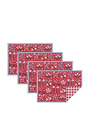 KAF Home Set of 4 Botanical Floral Print Placemats