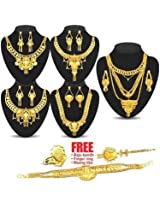 Kalash 1 Gram Gold Plated 5 Jewellery Set
