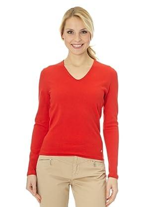 Bogner V-Ausschnitt Pullover mit Kaschmiranteil Hania (Rot)