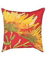 "Home Decor - Florabunda Indoor Outdoor Pillow - 18"" Square - Flower Pillow"