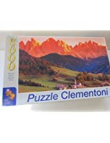 "Puzzle Clementoni, 6000 Pieces. The Dolomites S. Maddalena. 65"" X 45.5"""