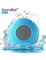 Soundbot HD Water Resistant Bluetooth 3.0 Shower Speaker with Built-in Mic - Blue