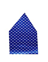 Navaksha Royal Blue Geometrical Pocket Square