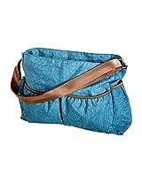 Trend Lab Blue Crinkle Tote Diaper Bag, Blue