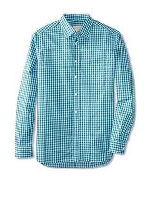 Billy Reid Men's Orleans Woven Shirt (Green/Blue)