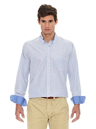 Turrau Camisa Cuadro Medio Bicolor (Azul / Beige)