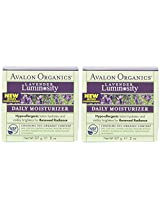 Avalon Organics Lavender Luminosity Daily Moisturizer, 2 Ounce (Pack of 2)