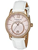 Stuhrling Original Women's 544.1145W4 Vogue Audrey Dawn Swiss Quartz Swarovski Crystal Date Rose Tone Strap Watch