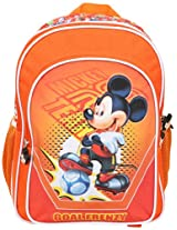 Mickey School Bag Football with Pouch, Multi Color (14-inch)
