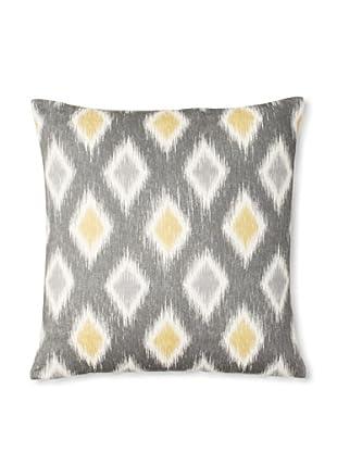 The Pillow Collection Faela Diamond Decorative Pillow (Graphite)