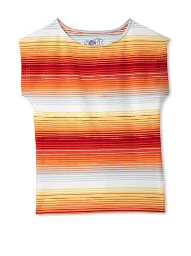 Soft Clothing Girl's Sorbonne Boatneck Short Sleeve Tee (Burnt Red)