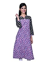 Kayara Collection Cotton Women's Kurti (Purple_40)
